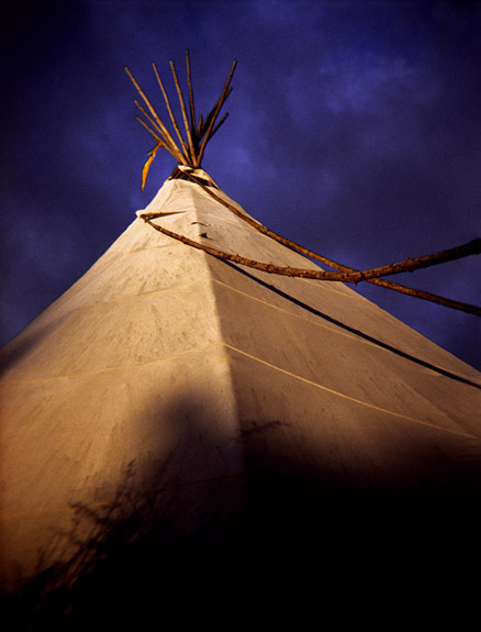 teepee / 40 x 60 / on canvas / edition of 3